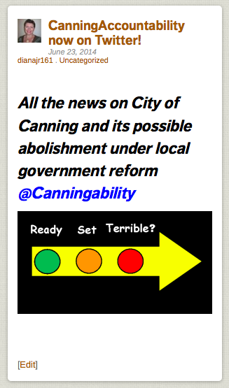 CanningAccountability The City of Canning faces abolishment under Local Government Reform Stay informed 1