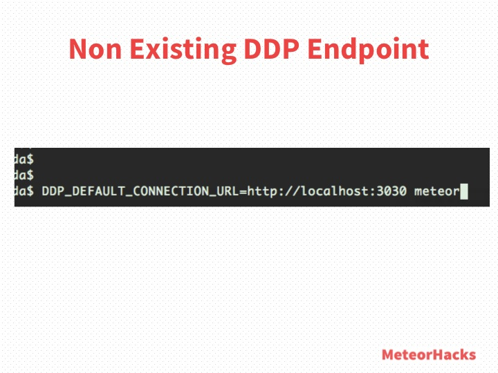 Non Existing DDP Endpoint
