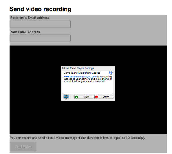 Record and Send a Video Message I ve Gotta Get a Message to You