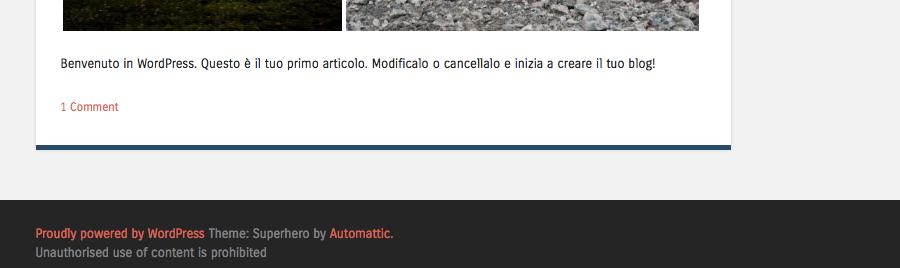 Provamax2 Un nuovo sito targato WordPress