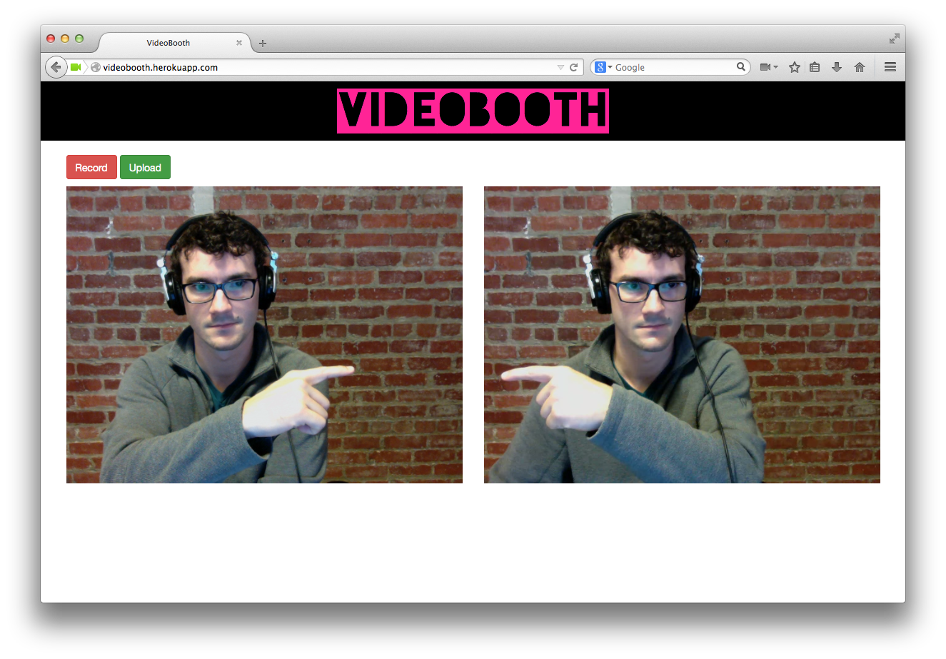 videobooth screenshot