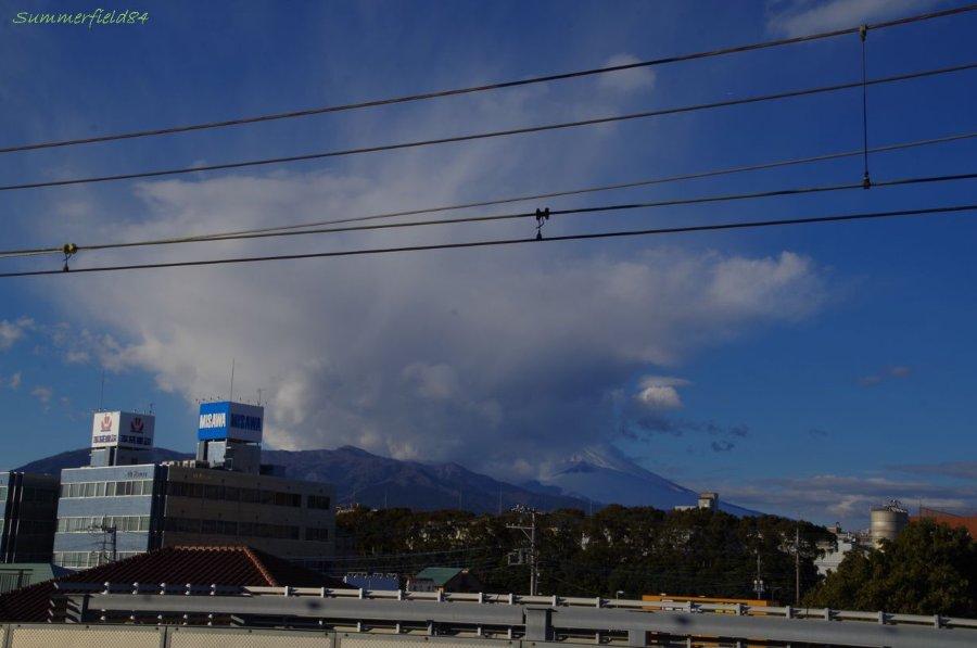 三島駅で見た富士山