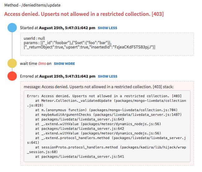 Server Side Meteor Error Trace on Kadira