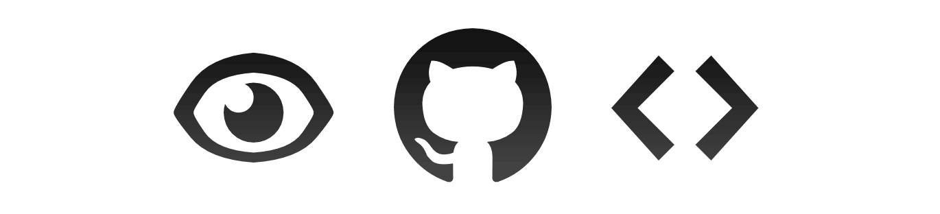Your project. GitHub's icons.