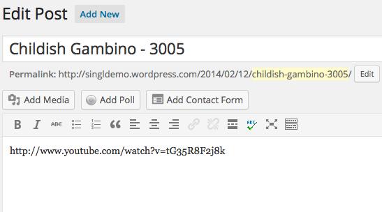 Edit Post Singl WordPress