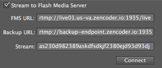 Flash Media Live Encoder screenshot