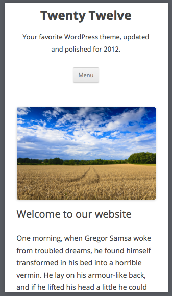 Twenty Twelve Your favorite WordPress theme updated and polished for 2012
