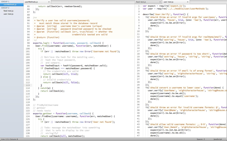 Customised Javascript setup for Sublime Text 2