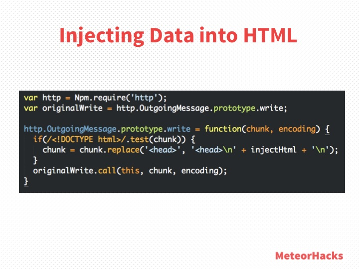 Injecting Data into HTML