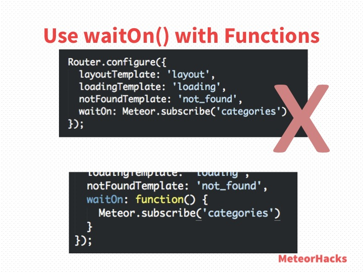 Use waitOn() with Functions