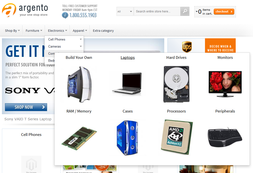 Using EasyCatalogImages widget as category dropdown