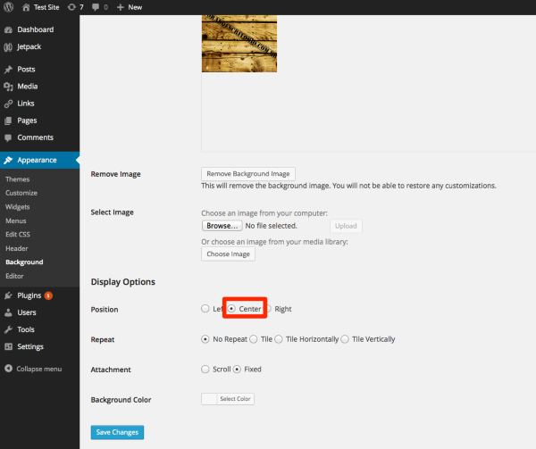Background Test Site WordPress 2